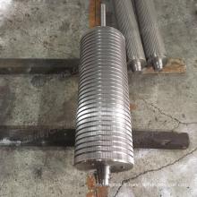 Rouleau en métal pour machine alimentaire, ligne de biscuits