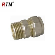 straight male connector pex-al-pex pipe brass compression fitting