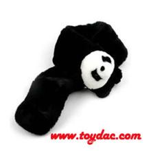 Plush Fur Panda Black Scarf