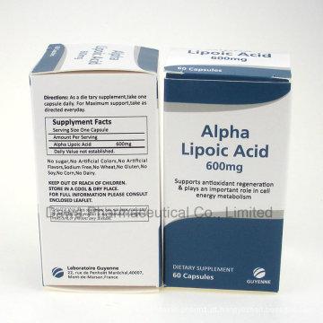 Fornecimento de fábrica de GMP para cápsulas de ácido alfa-lipóico anti-idade