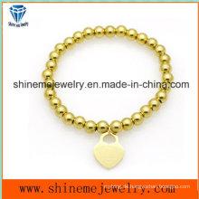 Hot-Selling Edelstahl Perle Anhänger Armband (BL2838)
