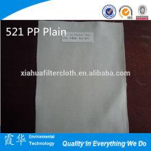 Paño de filtración simple de 521 PP para agua de aluminio