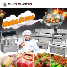 China Commercial Industrial Heavy Duty Cooking Stand Stainless Steel Kitchen Cooker Electric/Gas Wok Stove Burner