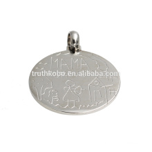 MAMA FOREVER simple gold pendant design stainless steel pendant