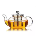 custom borosilicate glass luxury heat resistant large tea set teapot