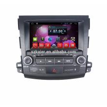 1080P HD 8 polegadas tela sensível ao toque 2 din dvd gps para outlander 2006-2011 com gps Multimídia carro / quad-core android gps com bt