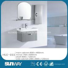 Шкаф ванной комнаты нержавеющей стали горячего надувательства серебряный с хорошим качеством