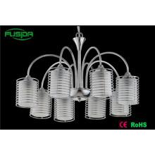 8 Lampen Moderne Glas Pendelleuchte