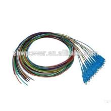 FTTH ONU 12 núcleos 0,9 milímetros SC fio de fibra óptica cabo fabricado em Shenzhen fabricante
