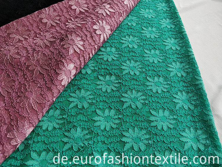 Nylon Poly Span Lace Fabric