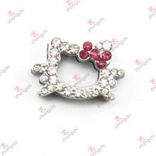 Charme de diaphragme Crystal Kitty de 10 mm pour accessoires de bricolage (JP10)
