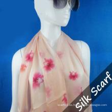 Flor de impresión larga bufanda con alta calidad