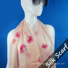 Flower Printing Long Scarf with High Quality