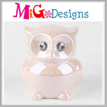 Enjoyable Ceramic Owl Coin Box Bank Decoration