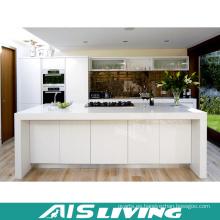 Muebles de gabinete de cocina de laca blanca del diseño moderno (AIS-k356)