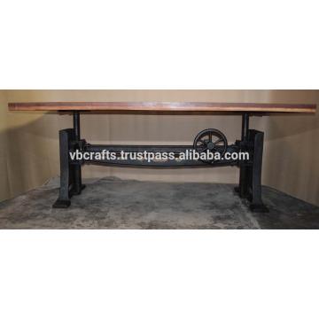 Mécanique lourde Crank Ajustable Dining Table Nouveau design