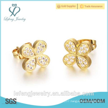 2016 Christmas gift fancy stud earring elegant gold earring stud