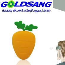 Bolso dominante vendedor caliente de la zanahoria del silicón / bolso de la moneda