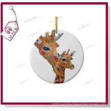 3′′ Sublimation Plain White Round Porcelain Ornament for Christmas Gifts