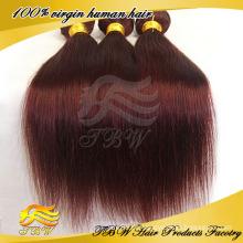 Cor vermelha trança cabelo 99j cabelo tecer