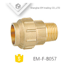EM-F-B057 brass male thread and Single compression joint spain pipe fitting