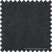 Algodão preto de viscose poliéster Spandex tecido para Jeans Denim