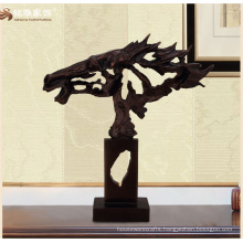 High end home decor antique bronze horses sculpture with hollow out abstract design
