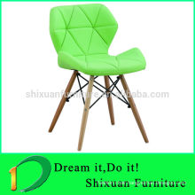 modern stacking wooden legs upholstered chair