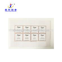 Étiquettes adhésives d'autocollant d'impression faite sur commande avec l'or rose