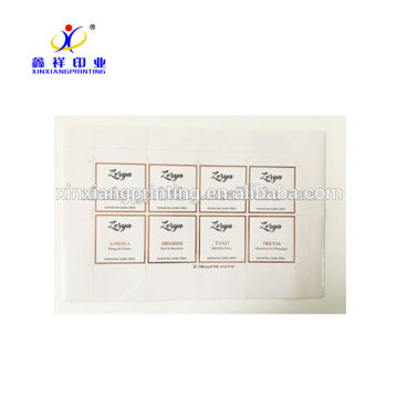 Пользовательские печать клей наклейка этикетки с розовое золото Фольгирование