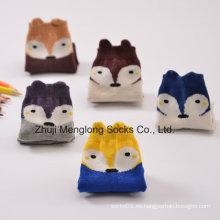 Fox diseños dibujos animados niño algodón calcetines diseños Customed bienvenida