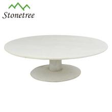 White Round Marble Stone Cake Stand