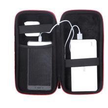 Bolsa de bateria externa Dual Zippers Capa de transporte Capa de porta móvel EVA Peças de telefone móvel Banco de energia Sacola de armazenamento