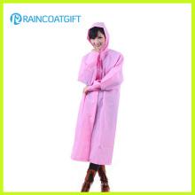 Waterproof Reusable EVA Women′s Plastic Raincoats