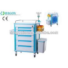 DW-FC001 médicament de chariot médical de chariot de livraison de médicament pour le chariot de secours pour la vente chaude
