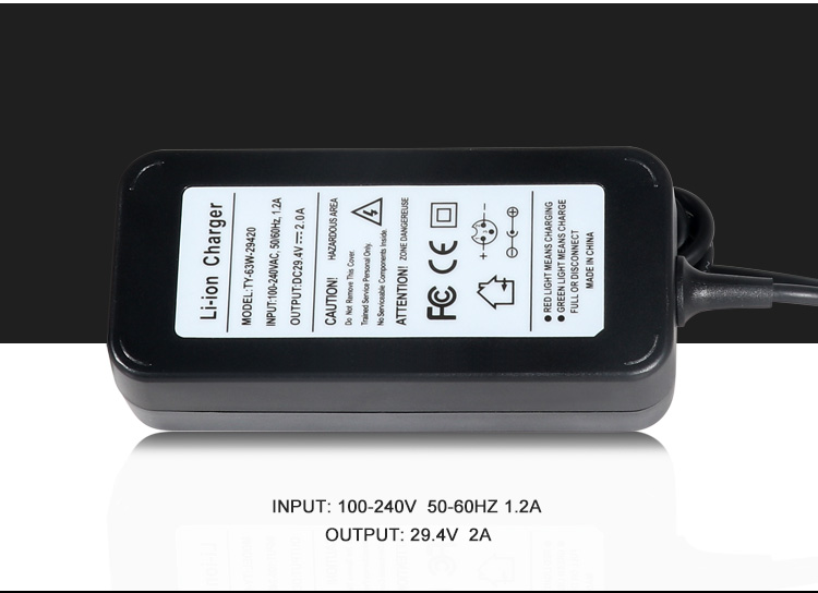 29.4V 2A Battery Charger Motorcycle