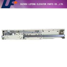 elevator landing door device, fermator two panel center/side opening landing door mechanism