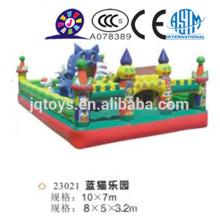 JQ23021 gigante inflable gato azul parque de atracciones sentarse y saltar salto saltador