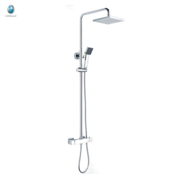 KWM-11 innovative product square plastic head shower with shower tube solid copper surface mounted bath shower mixer set