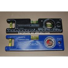8 '' Mini nível magnético plástico do instrumento do torpedo com frascos da bolha do cilindro