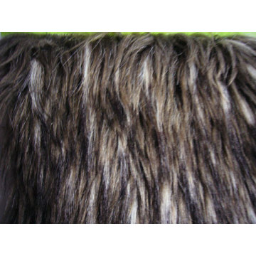 Tip-dyed Jacquard Fabric Faux Fur