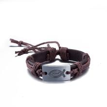 Western Fashion Jewelry Vintage Handmade Cowhide Bracelet Adjustable Bracelet