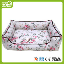 Cama de mascota de algodón estilo pastoral, cama de perro (HN-pH560)