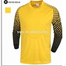 chemise de gardien de but en mousseline de soie à manches longues en vrac, maillot de foot à manches longues, équipement de gardien de but
