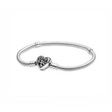 2020 Factory Wholesale 925 Sterling Silver Heart Chain Snake Bone Chain Bracelet DIY