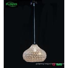 One Chandelier Light Beaded Design White Crystal Pendant Lighting