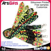 Wholesale cheap custom printed polyester neck lanyards