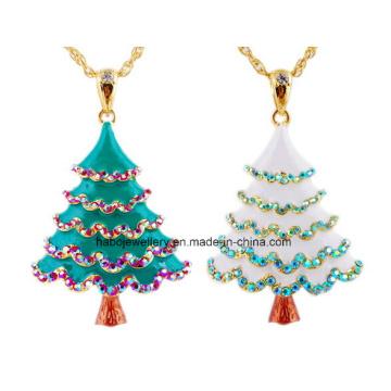 Bijoux de Noël / Collier de Noël / Arbre de Noël / Arbre en émail (XJW13330)