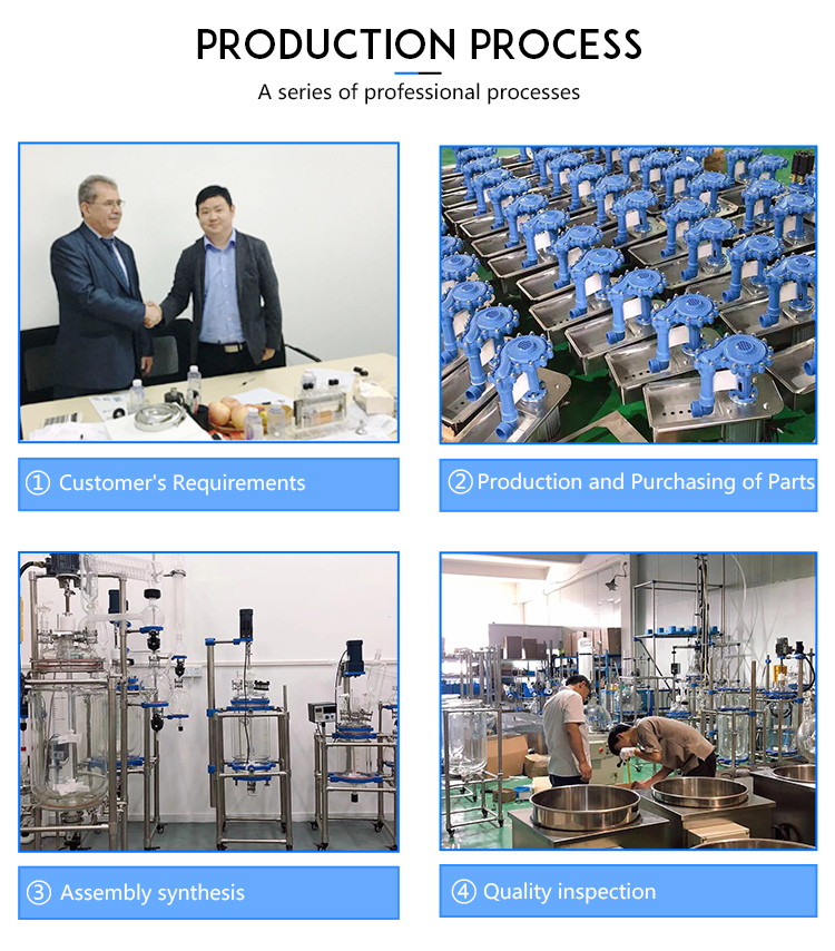 Hot Selling 30L Jacketed Glass Reactor Double Layer Glass Stirred Tank Reactor