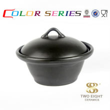 Black Ceramic double cookware large cook fry cooking pans